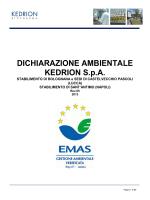 DICHIARAZIONE AMBIENTALE KEDRION S.p.A.