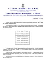 comunicazione del comando di polizia municipale del programma