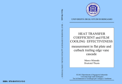 HEAT TRANSFER COEFFICIENT and FILM COOLING
