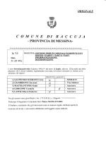 COMUNE DI R A C C U J A - PROVINCIA DI MESSINA