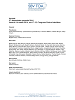 Verbale 27a Assemblea generale 2014 Venerdì 14 marzo 2014, ore