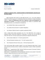 Direzione Tecnica Prot. N° 247/2014 Crotone li 20/01/2014