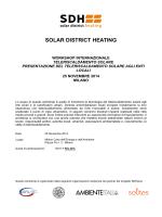 Programma - Solar District Heating