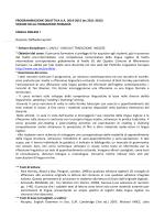 Programma Lingua Inglese I SFP 2014_2015