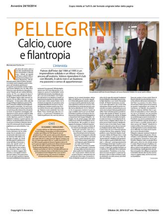 Articolo Avvenire - Fondazione Ernesto Pellegrini ONLUS