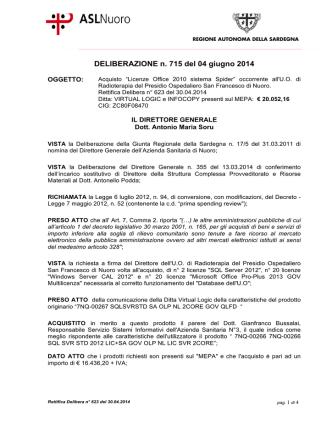 Deliberazione n. 715 del 4 giugno 2014 [file]