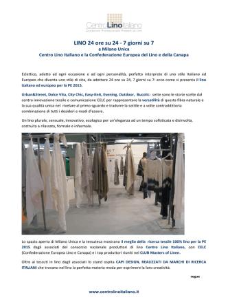 24/7 Lino a Milano Unica Febbraio 2014