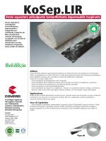 KoSep.LIR Strato separatore anticalpestio termoriflettente