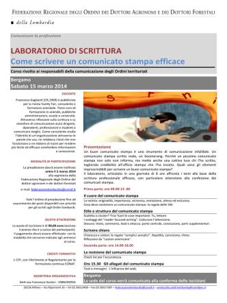 Come scrivere comunicati stampa efficaci FODAF Lombardia