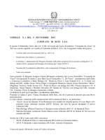 VERBALE N. 1 DEL 9 SETTEMBRE 2014 COMITATO DI RETE LES