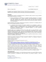 Circolare Cosmetica Italia - SICC Società Italiana di Chimica e
