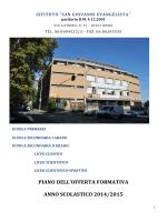 POF 2014 - Istituto San Giovanni Evangelista