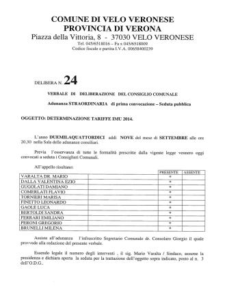 DCC2014-09-09-N.24 - Comune di Velo Veronese