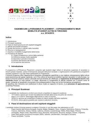 1 VADEMECUM LLP/ERASMUS PLACEMENT