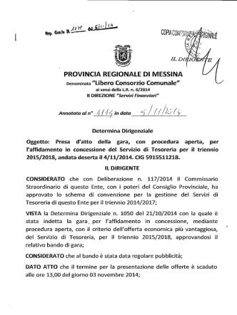 D.D. 1179 N 1114 - Provincia Regionale di Messina