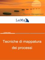 Tecniche di mappatura Tecniche di mappatura dei processi