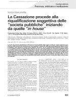 Società in house - Università degli Studi di Napoli Federico II