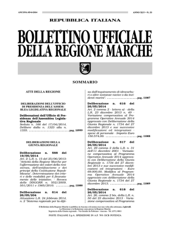 Bollettino Ufficiale della Regione Marche n. 53 del 5 giugno 2014
