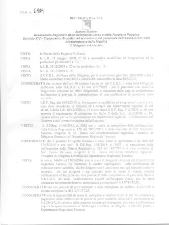 DDS n. 6979 del 28.10.2014 - DIRIGENTI DRT E