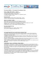 Primazona NEWS n. 75 di giovedì 25 settembre 2014 Vela e regate