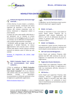 NEWSLETTER CENTRO REACH