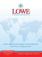 Catalogo Noleggio - Lowe Refrigeration