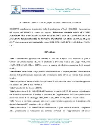 Agenzia Energetica di Massa Carrara P.I. 01120360456