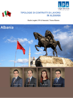 IN ALBANIA - LPA Law Firm Albania