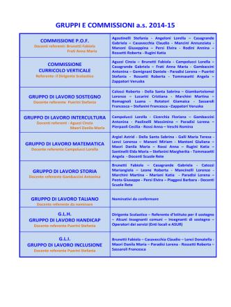 Commissioni e Gruppi di lavoro - Istituto Comprensivo Corinaldo