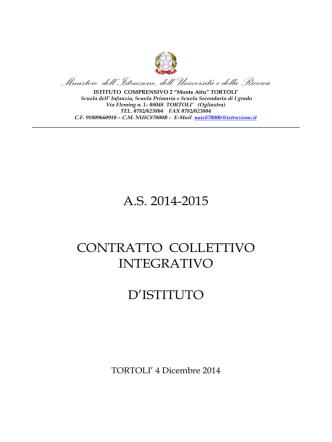 contrattazione 2014-2015 - Istituto Comprensivo n.2 Tortolì