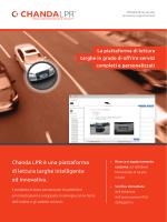 Chanda LPR è una piattaforma di lettura targhe intelligente