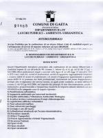 Avviso Pubblico - Comune di Gaeta