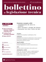 Bollettino di legislazione tecnica nr 10 2014