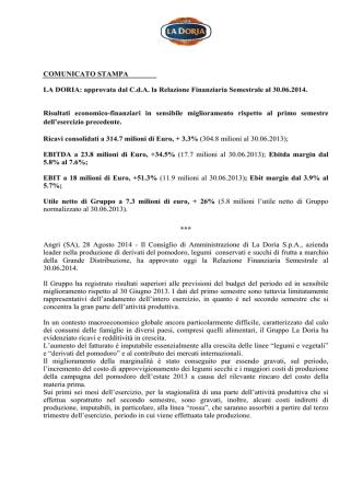 approvata dal CdA la Relazione Finanziaria