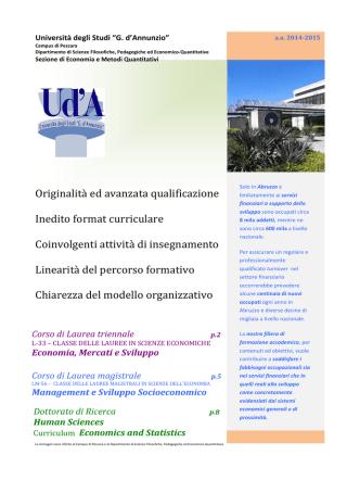 Brochure 2014/15 - Metodi quantitativi e teoria economica