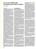 Il ruolo dei traffici nella formazione del Ticino moderno