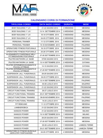 CALENDARIO CORSI MAF 2014-2015