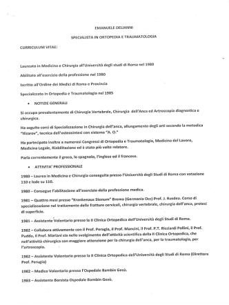 Curriculum Vitae - Clinica Barbantini