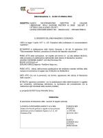 LAVIOSA CONTAINER AGENCY LCA SRL istanza di svincolo