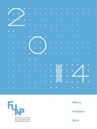 Catalogo corsi Fuap 2014 - CISL Funzione Pubblica