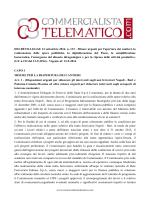 Il testo del decreto Sblocca Italia D.L. 133/2014