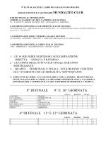 CALENDARIO MUNDIALITO PER CLUB
