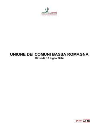 10 luglio 2014 - Unione dei Comuni della Bassa Romagna