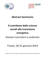 Abstract Seminario Il contributo delle scienze