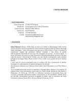 Curriculum Vitae Silvia Massari