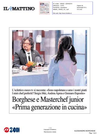 Borghese e Masterchef junior