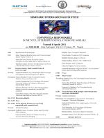SEMINARIO INTERNAZIONALE DI STUDI CONVIVENZA