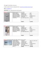 listino completo  (con prezzi) - guide e schemi di installazione