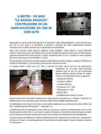 """6 METRI - 50 MHZ """"LA BANDA MAGICA"""": COSTRUZIONE DI UN"""