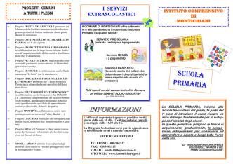 Brochure informativa PRIMARIA - Istituto Comprensivo di Montichiari